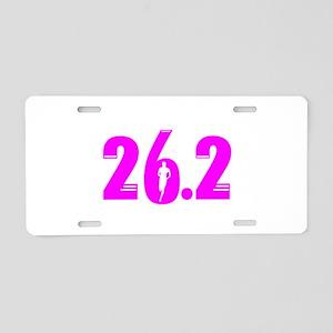 26 2 marathon pink Aluminum License Plate