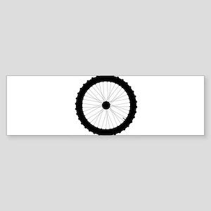 Bicycle Wheel Silhouette Bumper Sticker