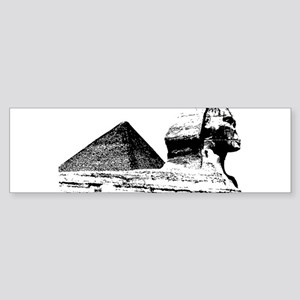Giza pyramid art Bumper Sticker