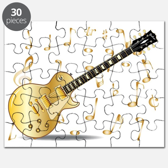 Cute Gold music note Puzzle