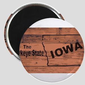 Iowa Map Brand Magnets