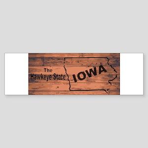 Iowa Map Brand Bumper Sticker