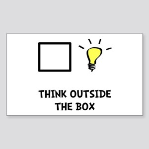 Think Outside The Box Sticker