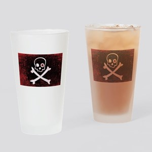 Jolly Roger With Eyeballs Drinking Glass