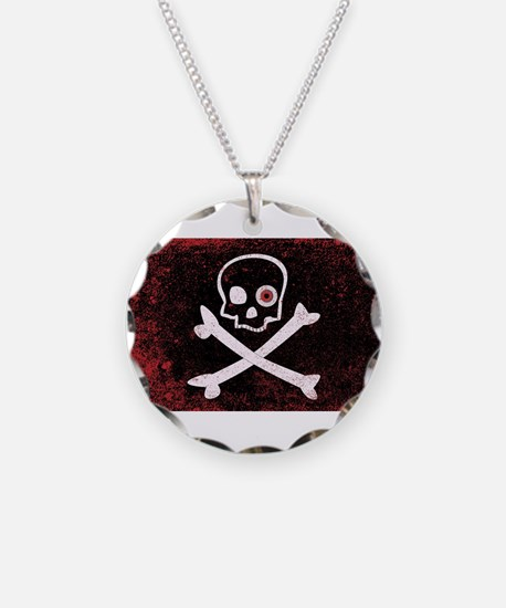 Jolly Roger With Eyeballs Necklace