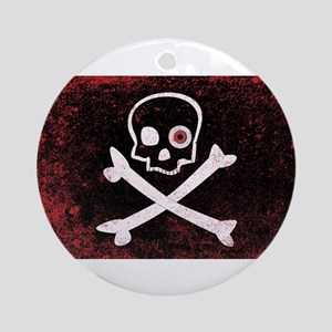 Jolly Roger With Eyeballs Round Ornament