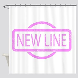 New Line Stamp Shower Curtain
