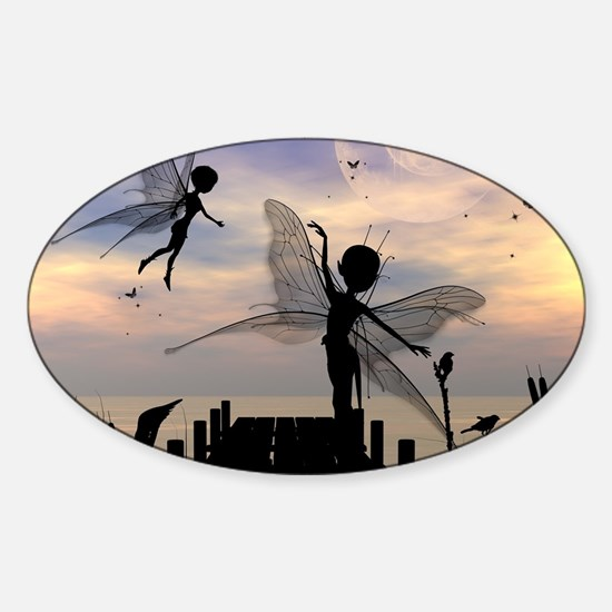 Cute fairy dancing on a jetty Decal