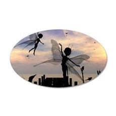 Cute fairy dancing on a jetty Wall Decal