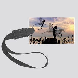 Cute fairy dancing on a jetty Luggage Tag