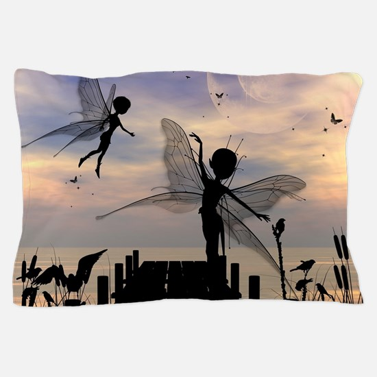 Cute fairy dancing on a jetty Pillow Case