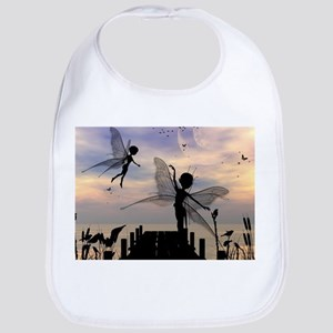 Cute fairy dancing on a jetty Bib