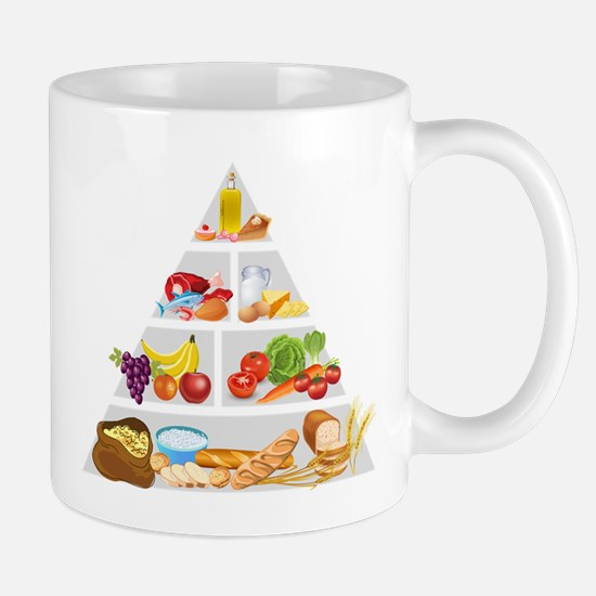 Food pyramid design art Mugs