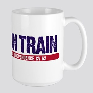 Gun Train USS Independence CV 62 Large Mug