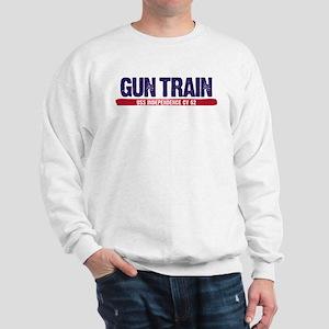 Gun Train USS Independence CV 62 Sweatshirt