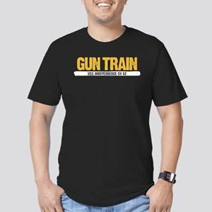 Gun Train USS Independ Men's Fitted T-Shirt (dark)