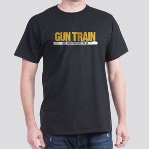 Gun Train USS Independence CV 62 Dark T-Shirt