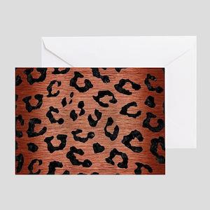 SKIN5 BLACK MARBLE & COPPER BRUSHED Greeting Card