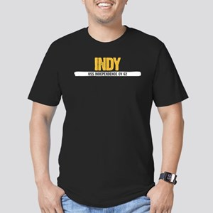 Indy USS Independence Men's Fitted T-Shirt (dark)