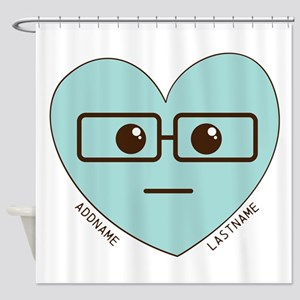 Emoji Heart Face Gift Personalized Nerd Shower Cur