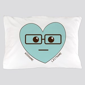 Emoji Heart Face Gift Personalized Nerd Pillow Cas