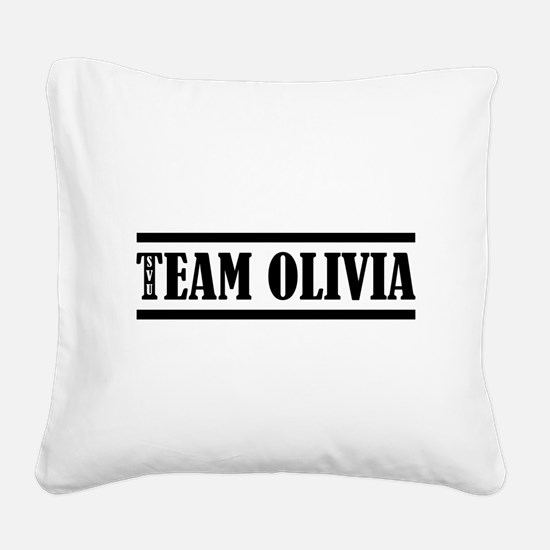 TEAM OLIVIA Square Canvas Pillow