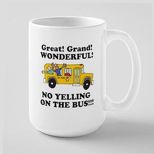 NO YELLING ON THE BUS Large Mug