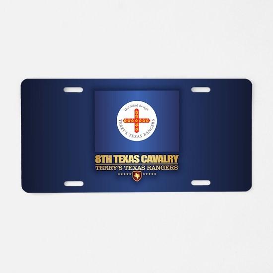 8th Texas Cavalry Aluminum License Plate