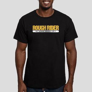 Rough Rider USS Theodo Men's Fitted T-Shirt (dark)