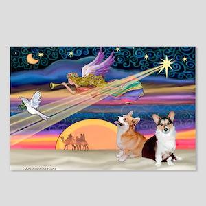 XmasStar/2 Corgis (P1) Postcards (Package of 8)