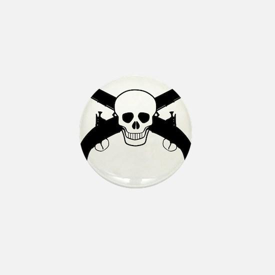 Skull and Pistols Mini Button