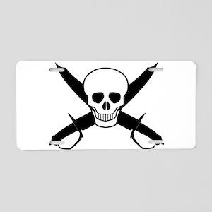 Skull and Cutlasses Aluminum License Plate