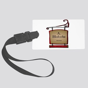 Jamie A. Malcolm Printer Large Luggage Tag