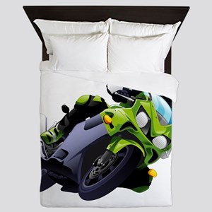 Motorcycle racer sliding Queen Duvet