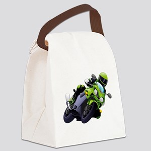 Motorcycle racer sliding Canvas Lunch Bag
