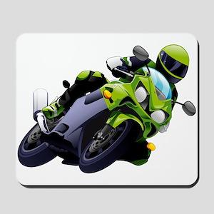 Motorcycle racer sliding Mousepad