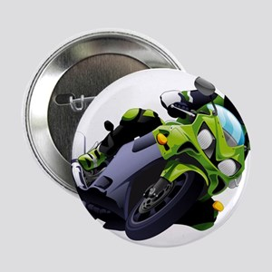 "Motorcycle racer sliding 2.25"" Button"