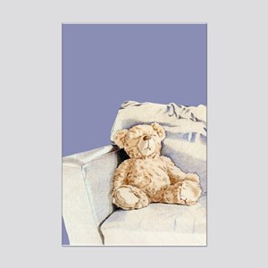 Lonely Teddy Mini Poster Print