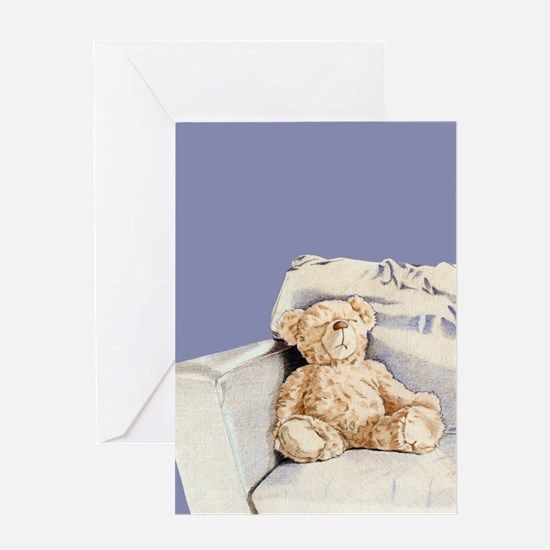 Lonely Teddy Greeting Card