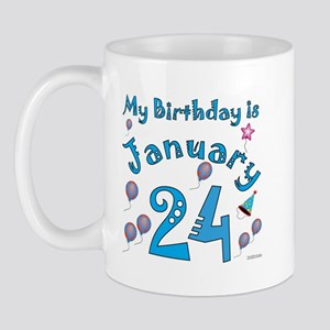January 24th Birthday Mug