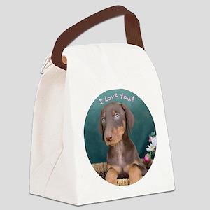 Puppy Canvas Lunch Bag