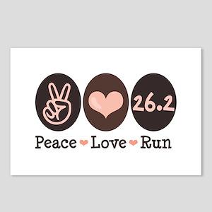 Peace Love Run 26.2 Marathon Postcards (Package of