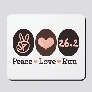 Peace Love Run 26.2 Marathon Mousepad