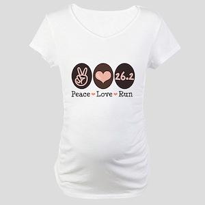 Peace Love Run 26.2 Marathon Maternity T-Shirt