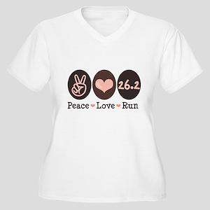 Peace Love Run 26.2 Marathon Women's Plus Size V-N