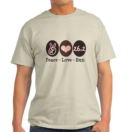 Peace Love Run 26.2 Marathon Light T-Shirt