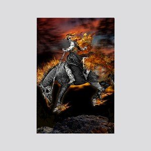 Texas Ghost Rider Rectangle Magnet