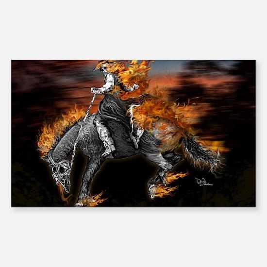 Texas Ghost Rider Sticker (Rectangle)