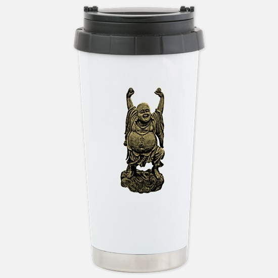 Laughing Buddha statue Stainless Steel Travel Mug