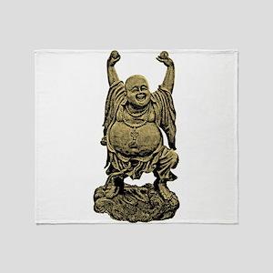 Laughing Buddha statue Throw Blanket